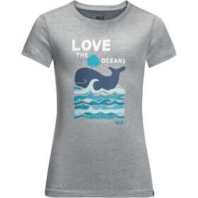 Jack Wolfskin Ocean Koszulka Dzieci, slate grey